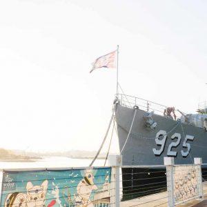德陽艦|超美夕陽+參觀驅逐艦!鄰近安平漁光島必遊景點!